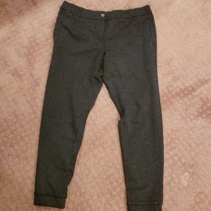 NWT Loft Gray Knit Ankle Pants